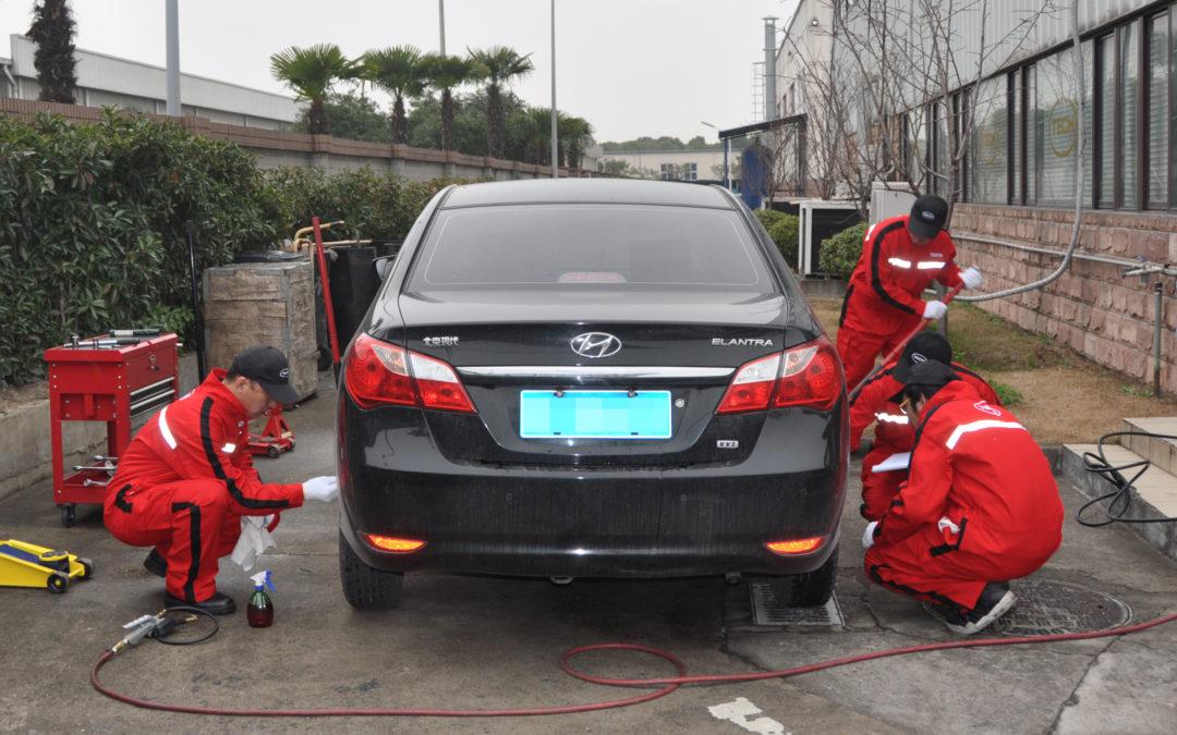松江泰克工厂轮胎安全公益检测,今年第一波!